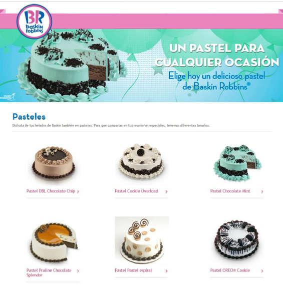 Ofertas de Baskin Robbins, Pasteles BR