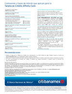Ofertas de Citibanamex, Tarjeta de crédito affinity card