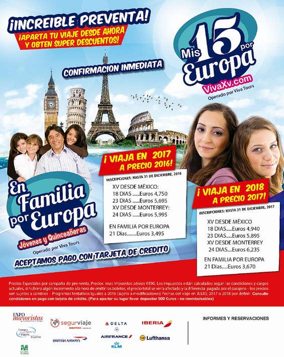 Ofertas de Viva Tours, Mis 15 por Europa