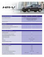 Ofertas de Honda, Ficha técnica Honda HRV