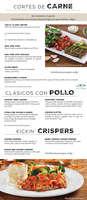 Ofertas de Chili's, Menú CDMX
