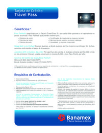 Tarjeta de crédito Travel Pass