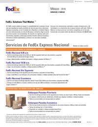 Servicios y Tarifas 2016
