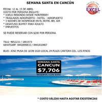 Viaja a Cancún en Semana Santa