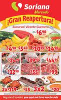 Ofertas de Soriana Mercado, !Gran Reapertura! Sucursal Vicente Guerrero