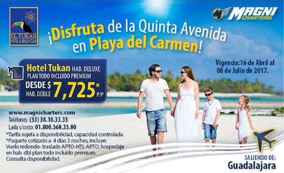 Ofertas de Magnicharters, Playa del Carmen
