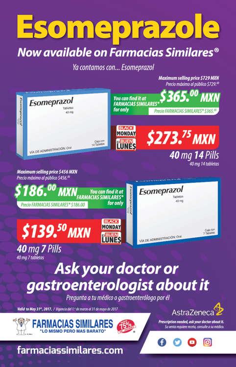 Ofertas de Farmacias Similares, Esomeprazole