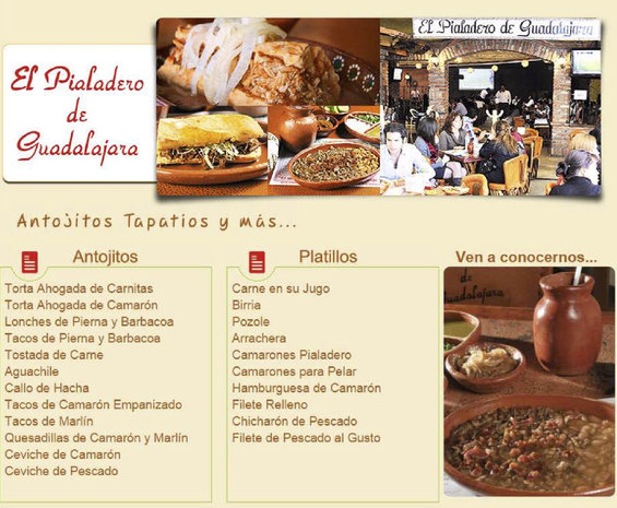 Ofertas de El Pialadero de Guadalajara, Menú