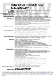 Ficha Técnica X3 Sport