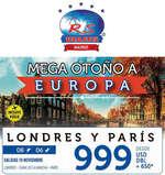Ofertas de RS Viajes, Mega otoño a Europa