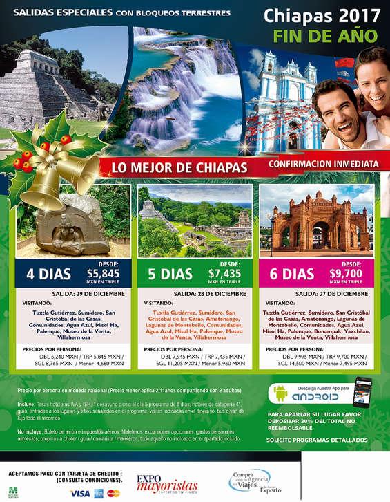 Ofertas de Viva Tours, Chiapas 2017 fin de año