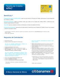 Tarjeta de crédito APAC