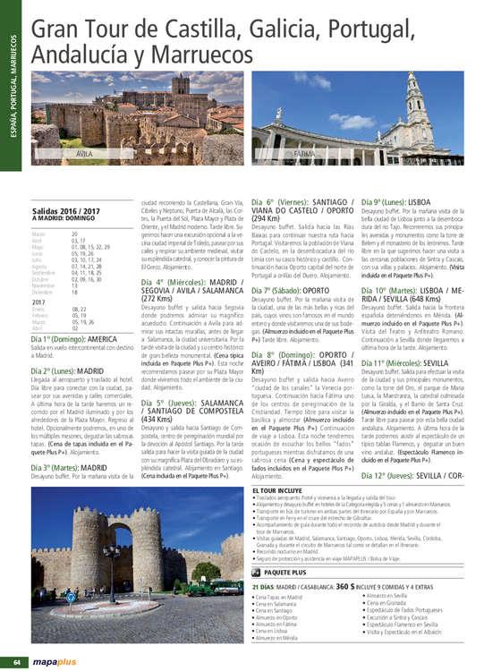Ofertas de Petra Viajes, Castilla, Galicia, Portugal, Andalucía y Marruecos