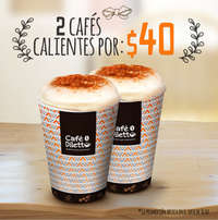 Dos cafés por $40