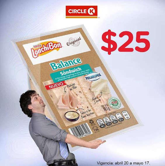 Ofertas de Circle K, Lonchibon $25