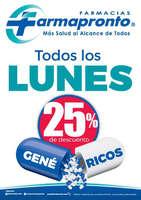 Ofertas de Farmapronto, Lunes 25% de descuento
