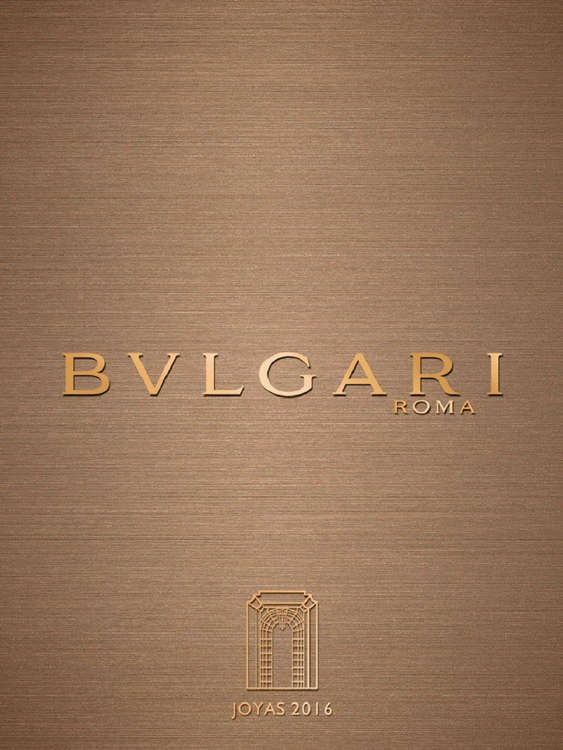 Ofertas de Bulgari, Catálogo Joyas 2016