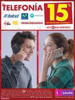 Ofertas de Suburbia, Telefonía 15% en certificado de regalo