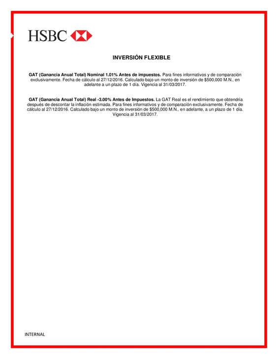 Ofertas de HSBC, Inversión Flexible