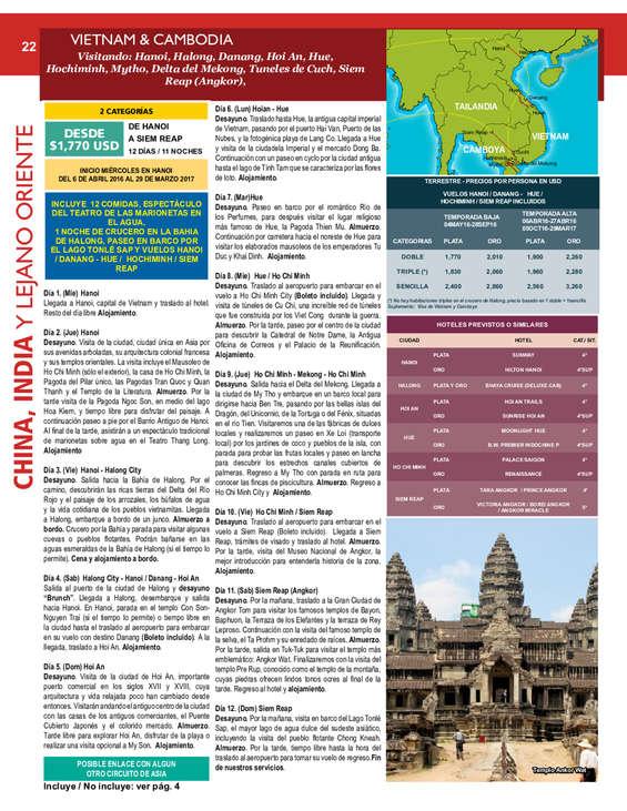 Ofertas de Viva Tours, Asia 2016