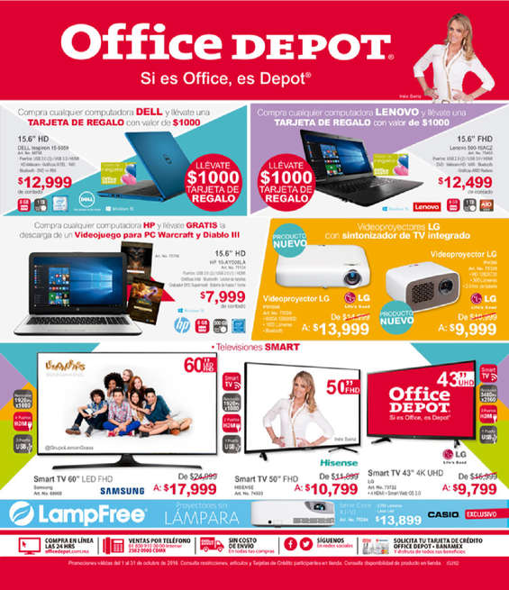 Ofertas de Office Depot, Catálogo Octubre