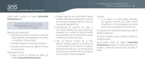 Ofertas de Santander, Folleto Informativo UP