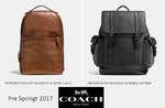 Ofertas de Coach, Pre Spring Men 2017