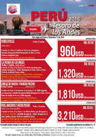 Ofertas de Excel Tours, Perú 2016