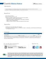 Ofertas de Banco Azteca, Cuenta básica azteca