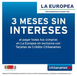 Ofertas de La Europea, Meses sin intereses