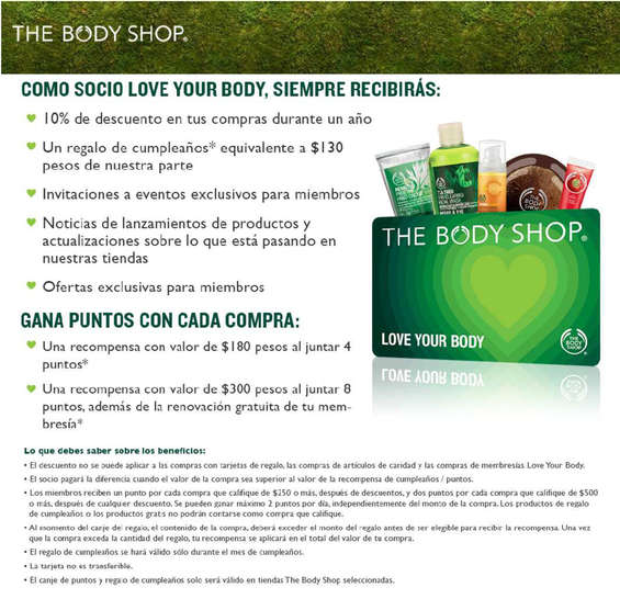 Ofertas de The Body Shop, Socio Love Your Body