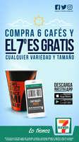 Ofertas de 7-Eleven, Compra 6 cafés y el 7º es gratis