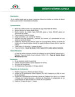 Ofertas de Banco Azteca, Crédito Nómina Azteca