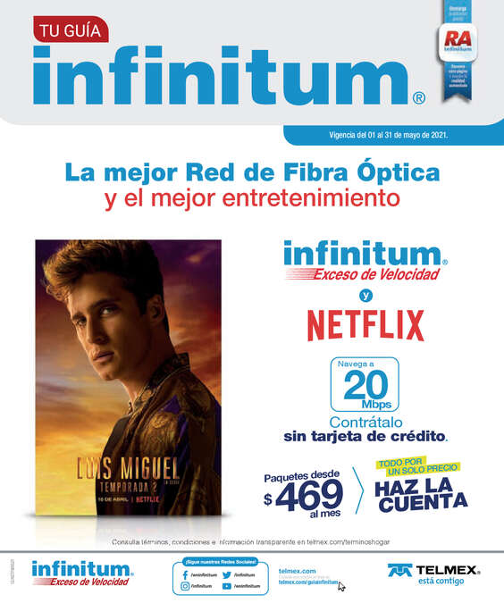 Ofertas de Telmex, Guía Infinitum