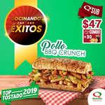 Ofertas de Quiznos Sub, Combo BBQ Crunch