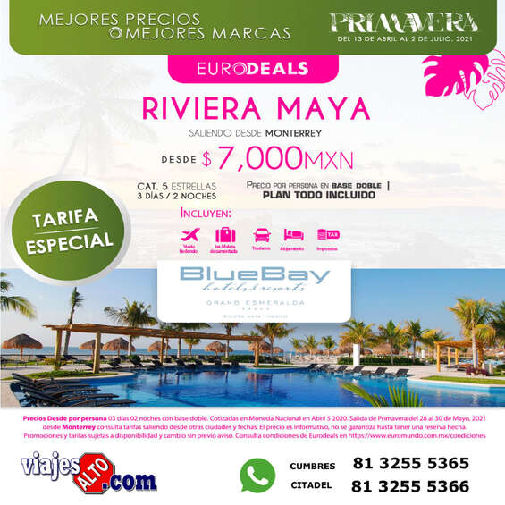 Ofertas de Viajes Alto, Rivera Maya
