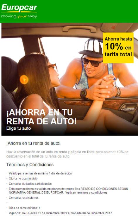 Ofertas de Europcar, ¡Ahorra en tu renta de auto!
