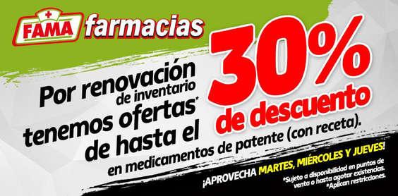 Ofertas de Fama Farmacias, 30% de descuento