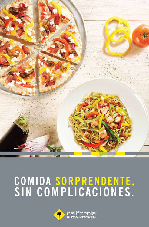 Ofertas de California Pizza Kitchen, Menú