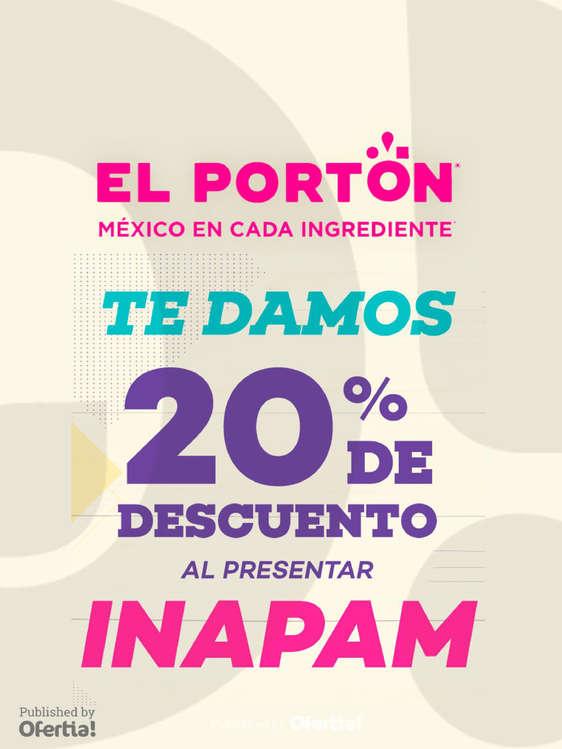 Ofertas de Portón, 20% de descuento con INAPAM