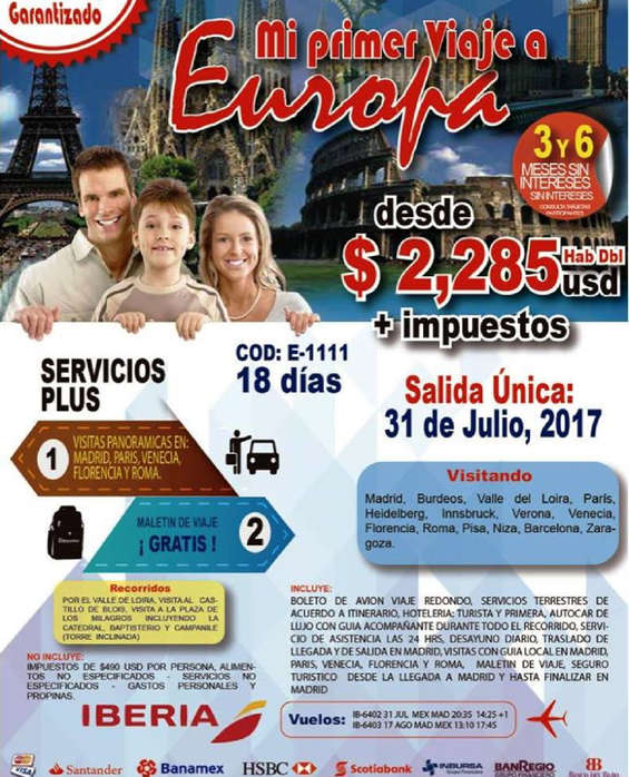 Ofertas de Nuevo Mundo, Mi Primer Viaje a Europa