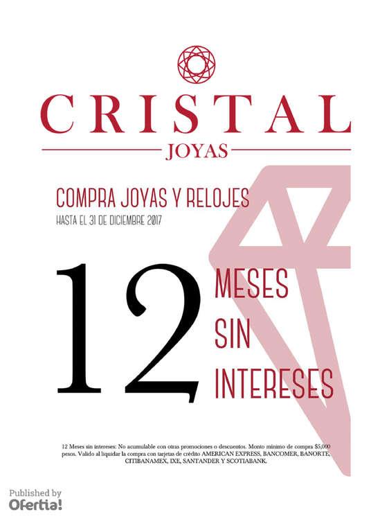 Ofertas de Cristal Joyas, Compra Joyas y Relojes a 12 Meses Sin Intereses