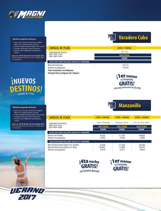 Ofertas de Magnicharters, Guía Vacacional 2017