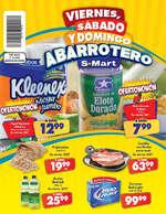 Ofertas de S-Mart, Viernes, sábado y domingo abarrotero- Díptico Río Bravo y Periférico