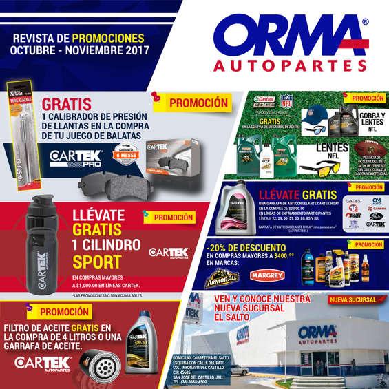 Ofertas de Orma Autopartes, Orma Octubre-Noviembre