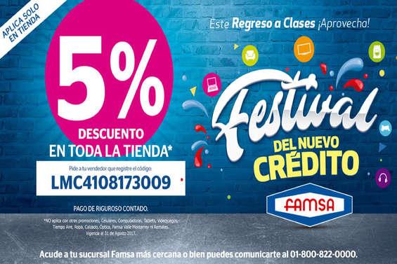 Ofertas de Famsa, Festival del Nuevo Crédito