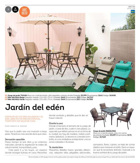 Conjunto muebles jard n en zumpango de ocampo cat logos for Ofertas conjuntos de jardin