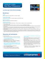 Ofertas de Citibanamex, Tarjeta de crédito Best Buy Citibanamex