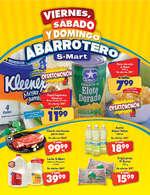 Ofertas de S-Mart, Viernes, sábado y domingo abarrotero- Díptico Arcos y Capitán