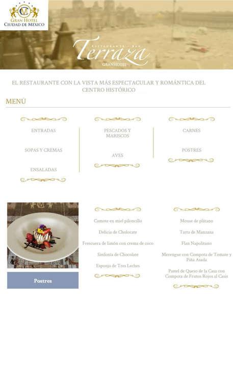 Ofertas de Terraza, Menú Terraza Gran Hotel